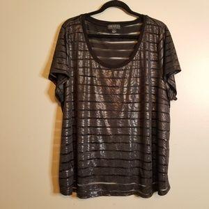 Forever 21 + Plus Size 3X Black Sheer Shirt